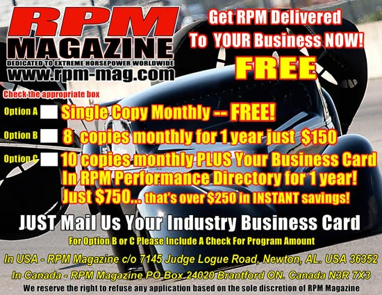 Speed Shop Owners Subscribe FREE!!